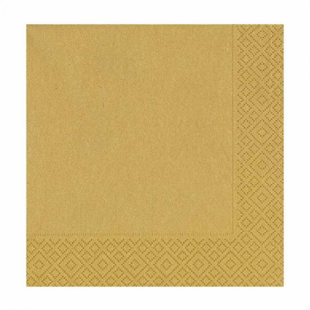 Altın Kağıt Peçete 33x33 cm 20\'li