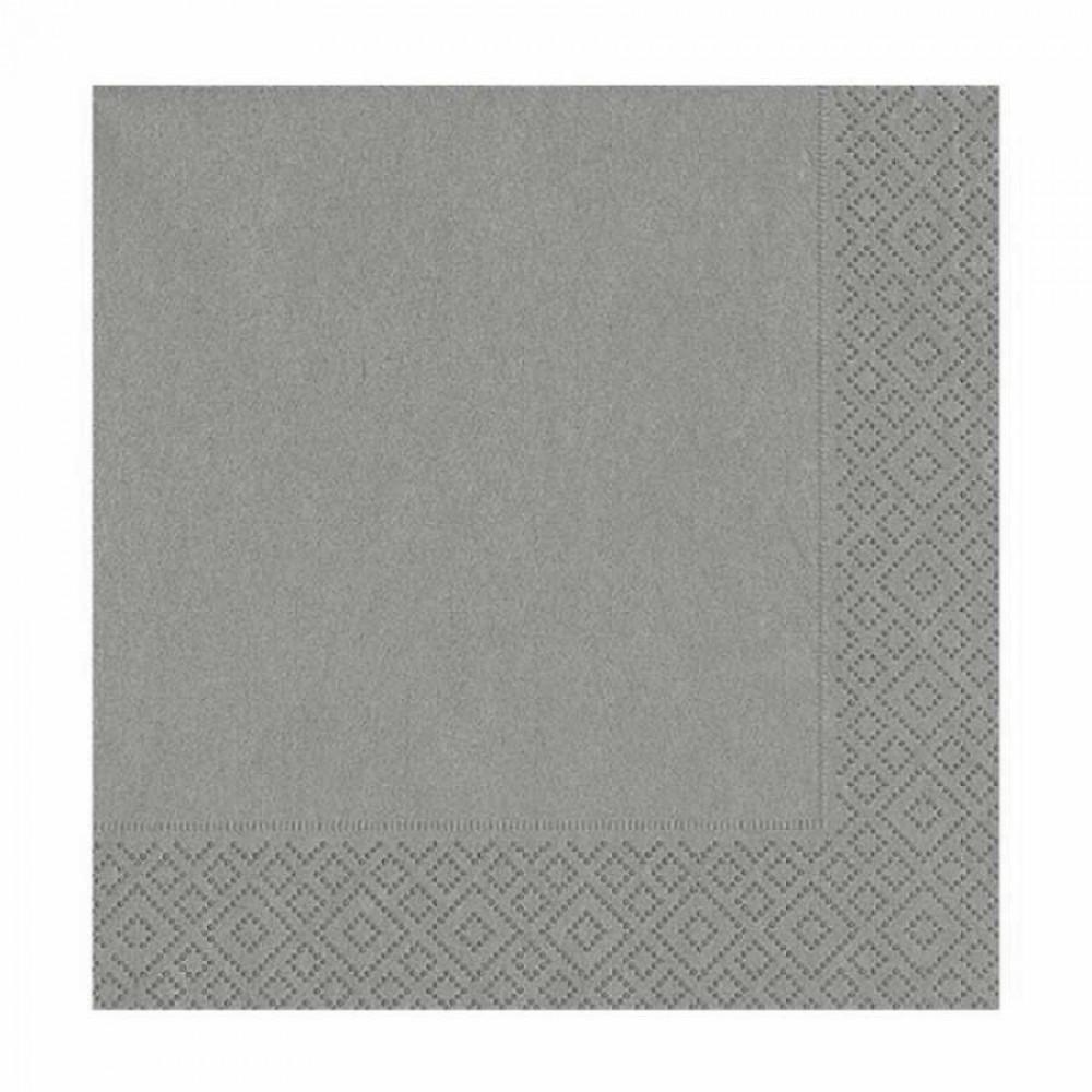 Gümüş Kağıt Peçete 33x33 cm 20\'li