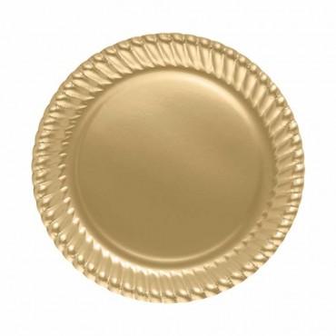 Altın Karton Tabak 23 cm 8\'li