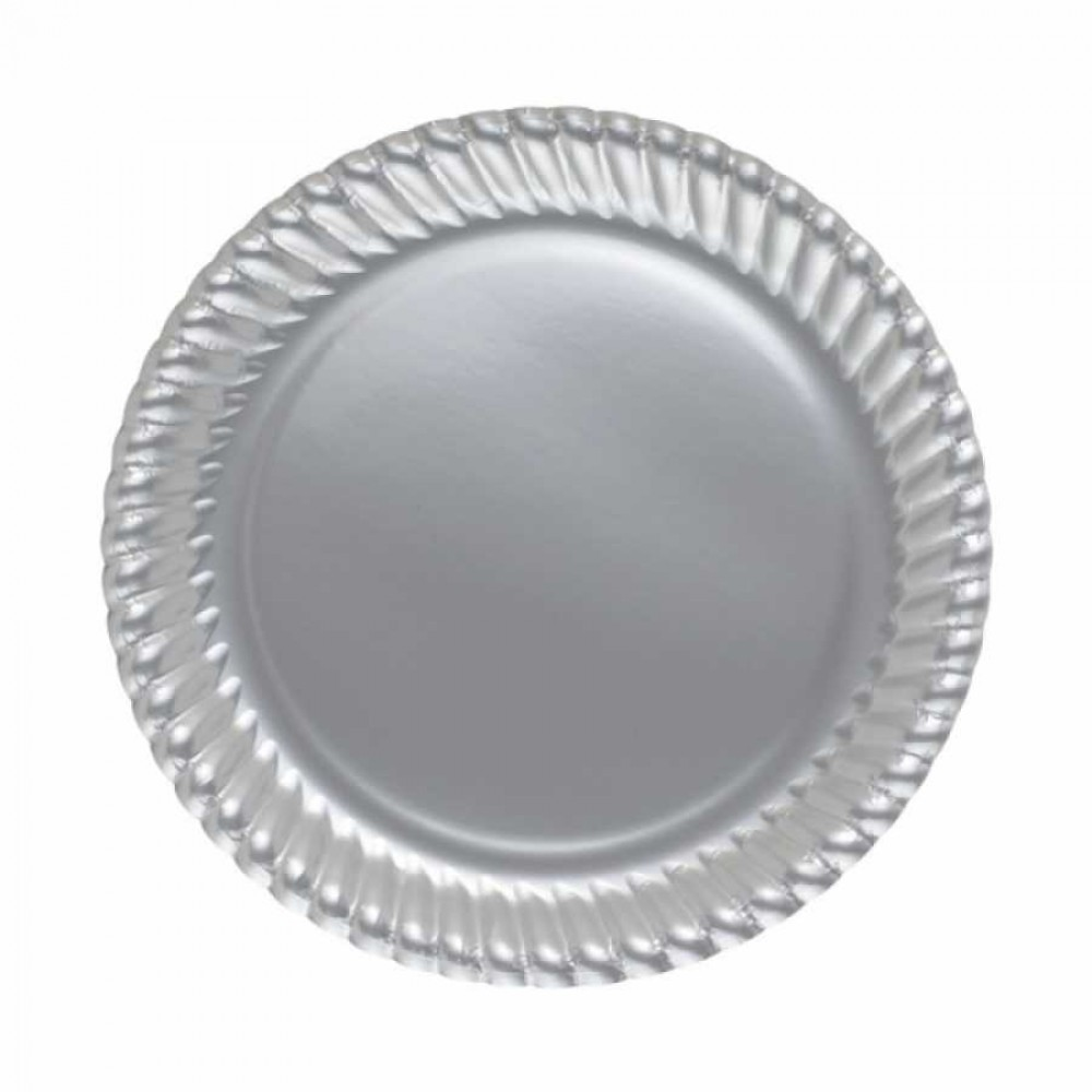 Gümüş Karton Tabak 23 cm 8\'li