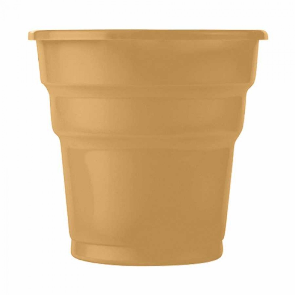 Altın Plastik Meşrubat Bardağı 10\'lu