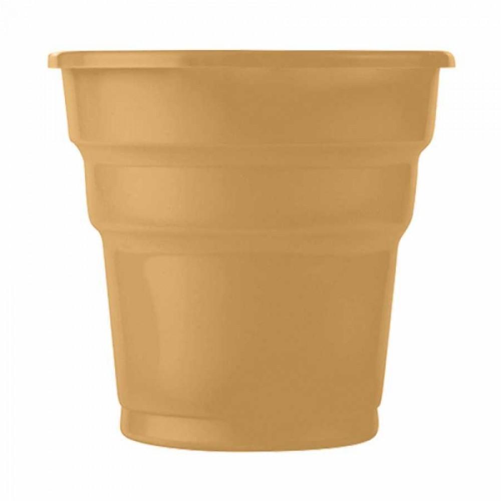 Altın Plastik Meşrubat Bardağı 25\'li