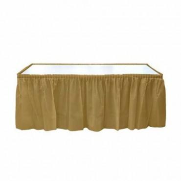 Altın Plastik Masa Eteği 75x426 cm
