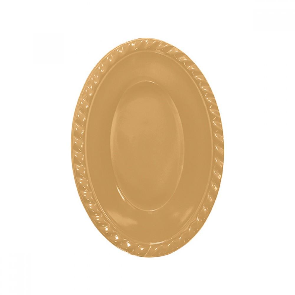 Altın Plastik Oval Kase 12x17 cm 8\'li