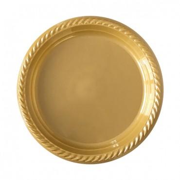 Altın Plastik Tabak 22 cm 10\'lu