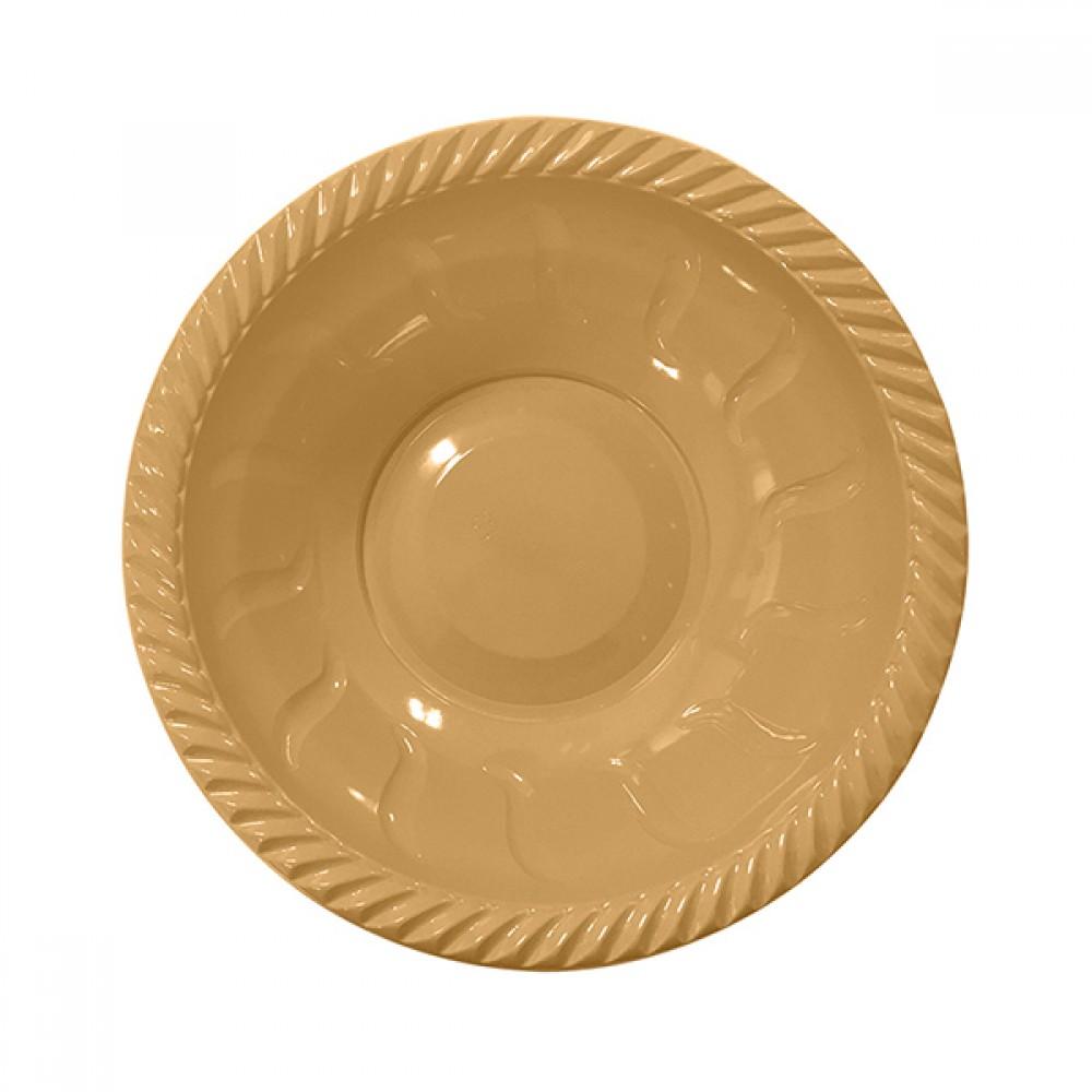 Altın Plastik Yuvarlak Kase 22 cm 6\'lı