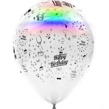 Happy Birthday Baskılı Led Işıklı Balon