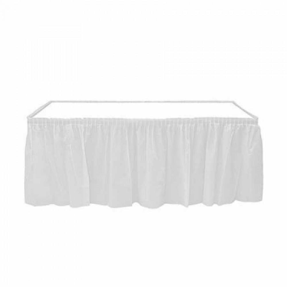 Beyaz Plastik Masa Eteği 75x426 cm
