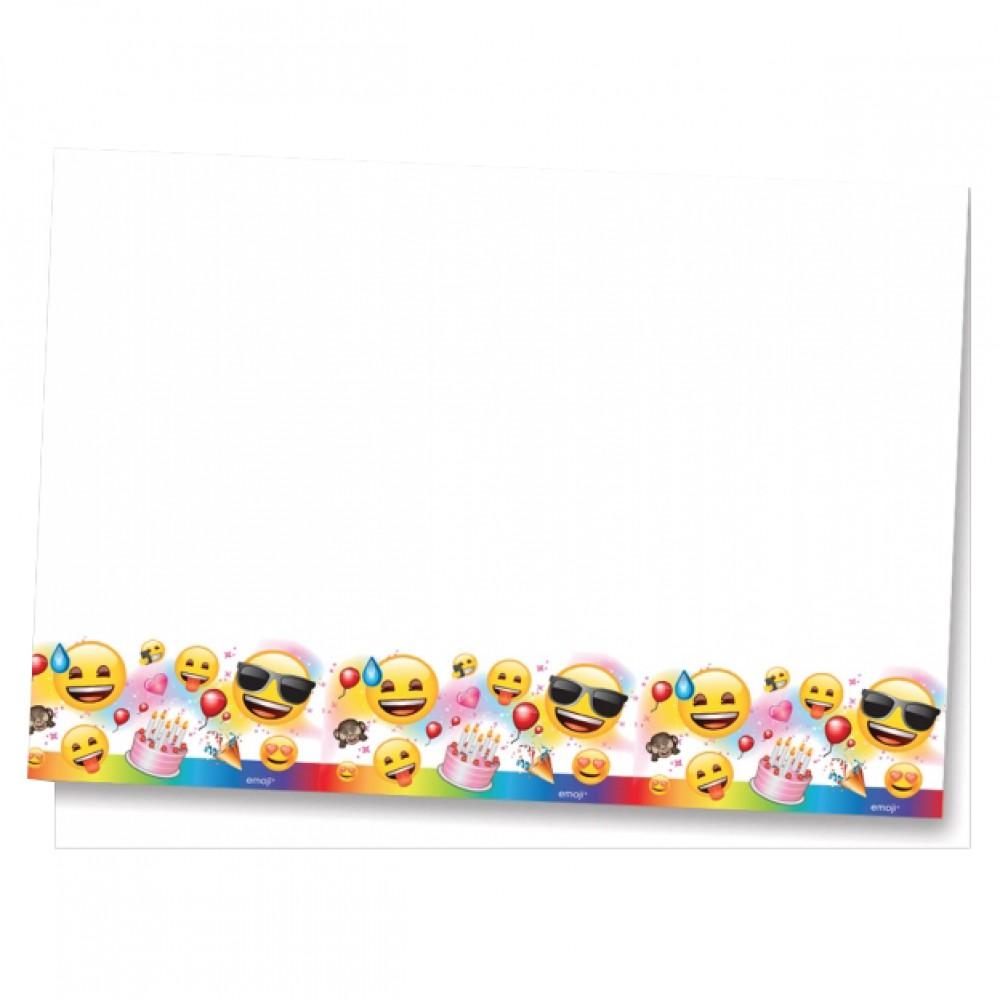 Emoji Parti Plastik Masa Örtüsü 120x180 cm