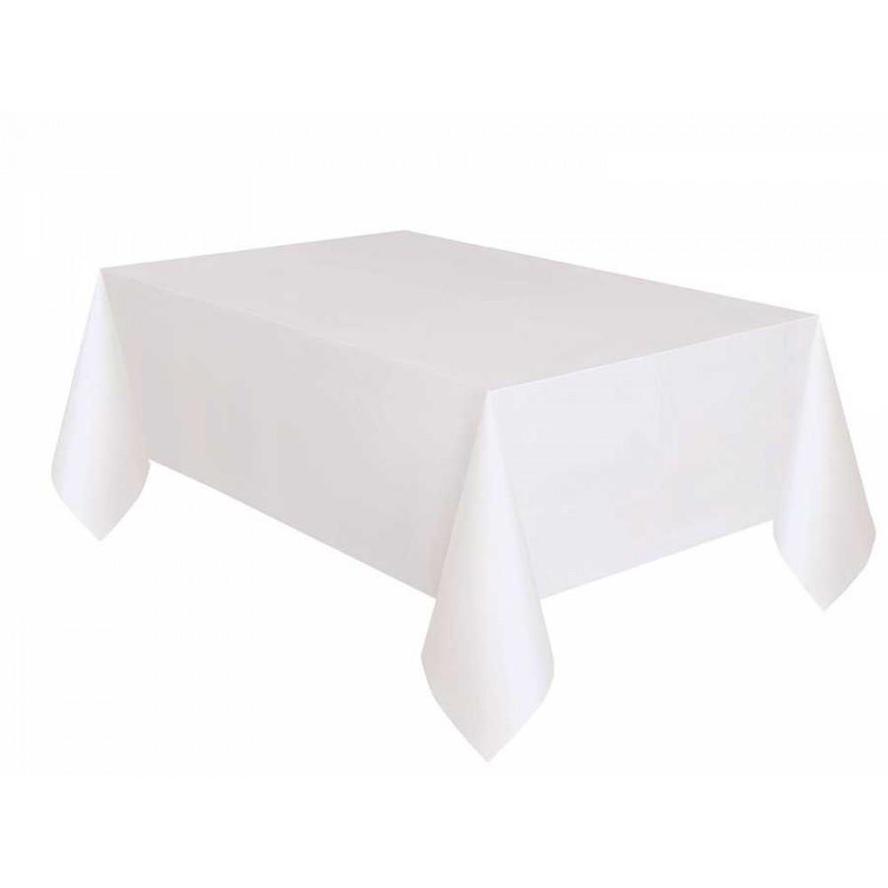 Beyaz Plastik Masa Örtüsü 137x270 cm