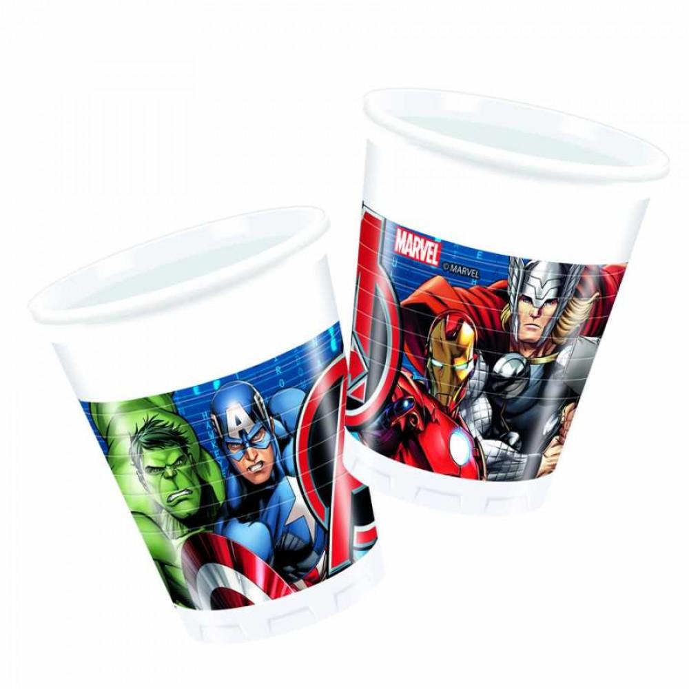 Avengers Power Plastik Bardak 200cc 8\'li