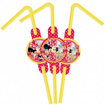 Minnie Lisanslı Pipet 6\'lı