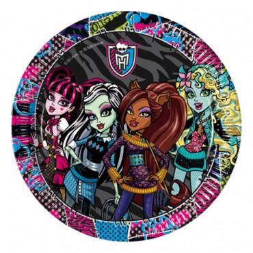 Monster High Karton Tabak 23 cm 8\'li