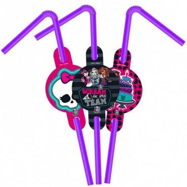 Monster High Lisanslı Pipet 6\'lı