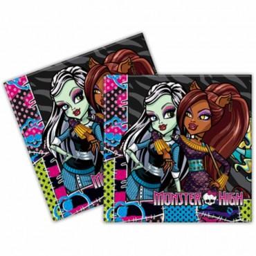 Monster High Kağıt Peçete 33x33 cm 20\'li