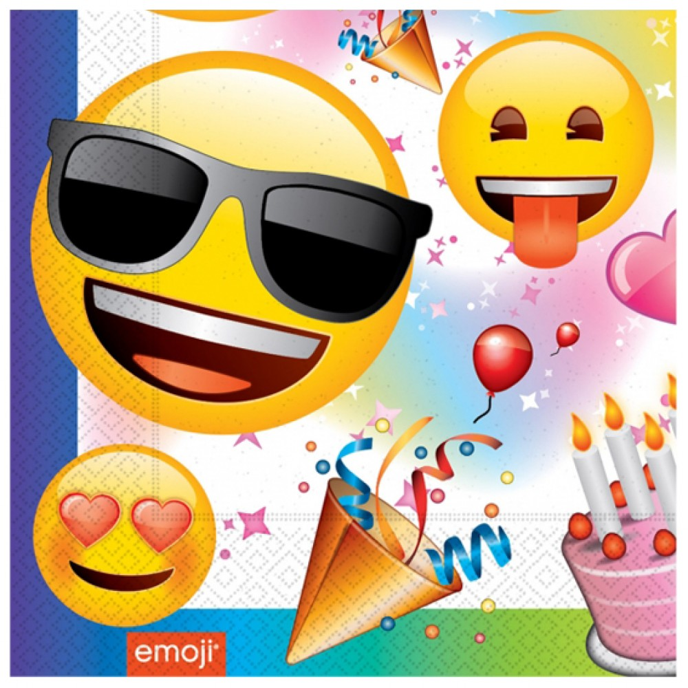 Emoji Parti Kağıt Peçete 33x33 cm 20\'li