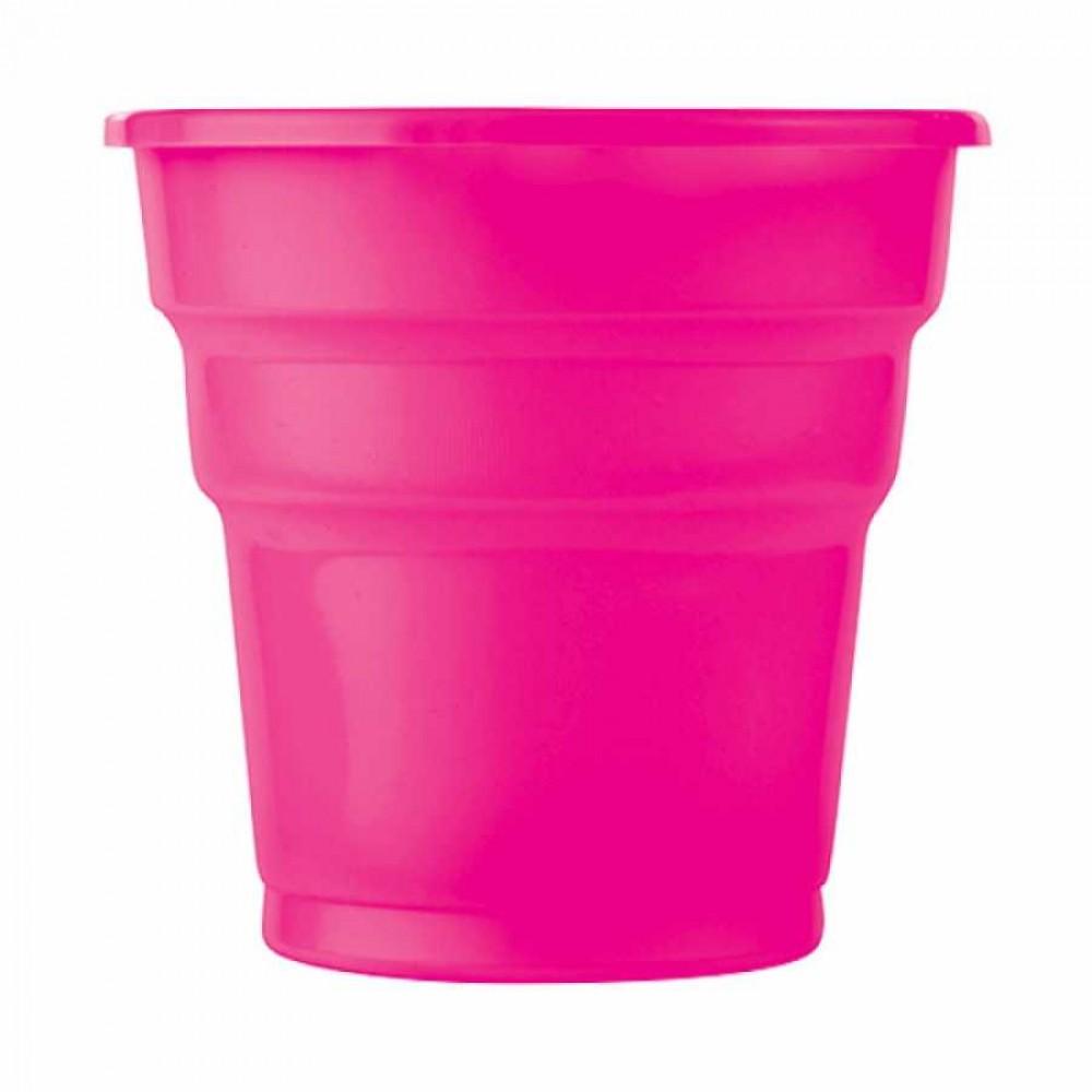 Fuşya Plastik Meşrubat Bardağı 10\'lu