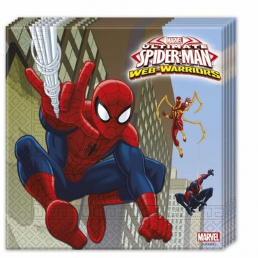 Spiderman Savaşçı Kağıt Peçete 33x33 cm 20\'li