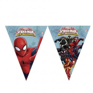 Spiderman Savaşçı Lisanslı Üçgen Bayrak Afiş