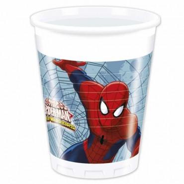 Spiderman Savaşçı Plastik Bardak 200cc 8\'li