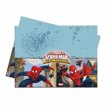 Spiderman Savaşçı Plastik Masa Örtüsü 120x180 cm