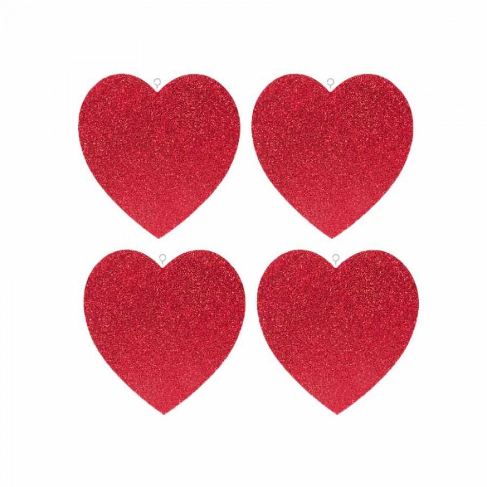 Çift Taraflı 4\'lü Kalp Strafor Süs